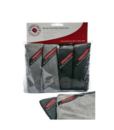 Crema Pro Barista Microfiber Cleaning Cloth 4 pack