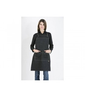 Barista Apron Unisex Black Jean