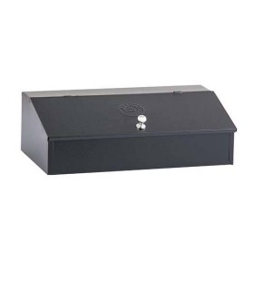 Coffee Box Stainless Steel Black 3 Storage