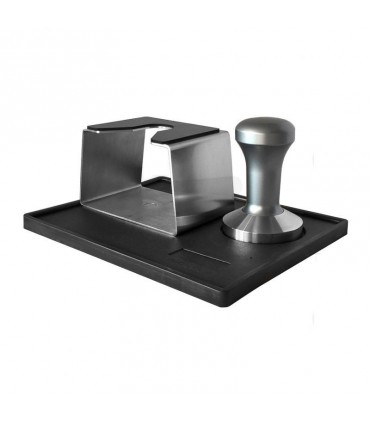 Barista Shop Tamping Station with Silver Tamper 58mm
