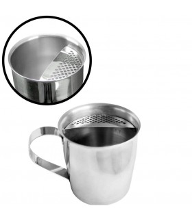 Short Jug Inox with strainer and handle 400ml