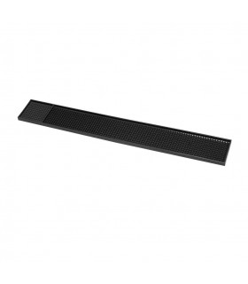 Bar Mat Black Rubber 60x8x1.6cm