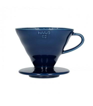 Hario Coffee Dripper V60 02 Ceramic Blue