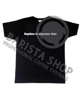 Barista Shop Anytime is espresso time T-shirt - Μπλουζάκι Μαύρο