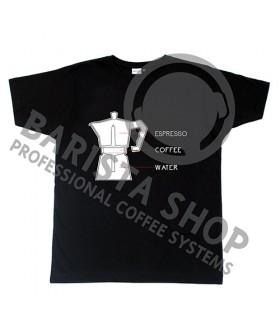Barista Shop Moka Pot T-shirt - Μπλουζάκι Μαύρο