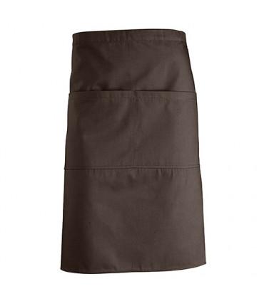 Barista Medium Apron with Pockets Brown